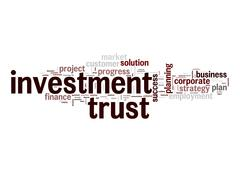 Investment trust word cloud Stock Illustration