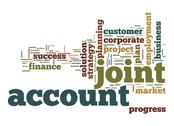 Stock Illustration of joint account word cloud