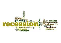 Recession word cloud Stock Illustration