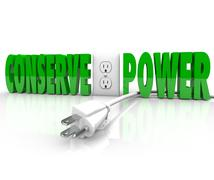 conserve power electrical cord plug save energy conservation - stock illustration