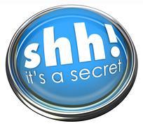 ssh it's a secret words button light confidential information - stock illustration