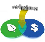 Stock Illustration of eco-business venn diagram green sustainable practices make money