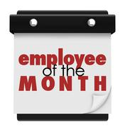 employee of the month calendar top performing worker award - stock illustration