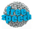 Stock Illustration of free speech words liberty rights freedom beliefs