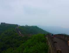 Hazy Summertime at the Great Wall 4K Stock Footage