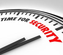 time for security words clock safety manage risk - stock illustration