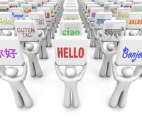 hello words different languages greeting world culture diversity - stock illustration