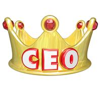 gold crown ceo chief executive officer words top ruler - stock illustration