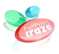 health craze words dietary supplement vitamin capsules - stock illustration