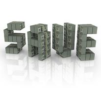 Save word money stacks bundles savings sale discount cash Stock Illustration