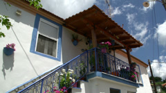 Tilt from a house to the street in Maries, Thassos Greece Stock Footage
