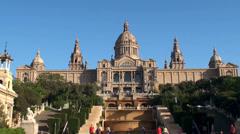 Types of Barcelona. Palau Nacional. Stock Footage
