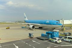 KLM airline in Netherlands - stock photo