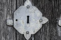 Medieval keyhole Stock Photos