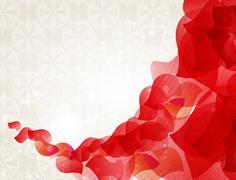 red petals - stock illustration