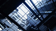 HD - Prison. Look through the security bars Stock Footage