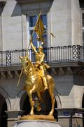 Monument for Joan of Arc in Paris. Stock Photos
