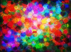 spectral hexagons - stock illustration