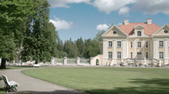 The nice place where an old manor is located in estonia fs700 odyssey 7q Stock Footage