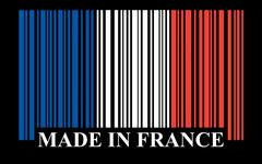 French barcode flag Stock Illustration