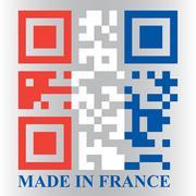 French qr code flag Stock Illustration