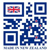 New zealand qr code flag Stock Illustration