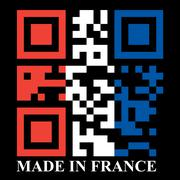 French qr code flag Stock Illustration