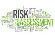 Stock Illustration of word cloud risk assessment