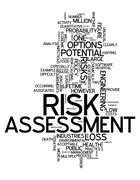 Word cloud risk assessment Stock Illustration