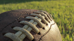 Dolly of football Stock Footage