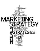 Word cloud marketing strategy Stock Illustration