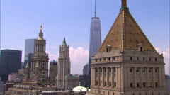 40 Centre Street Courthouse in Manhattan Stock Footage
