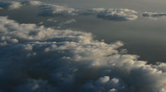 Cloud cover from high altitude early morning aerial HD - stock footage