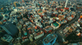 Aerial time lapse of a bustling city (1080) Footage