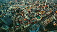 Stock Video Footage of Aerial time lapse of a bustling city (1080)