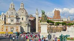 Rome, Italy, Piazza Venezia, Vittoriano or Altare dells Patria, time-lapse. Stock Footage