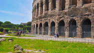 Stock Video Footage of Rome, Italy, Colosseum time-lapse, zoom out.