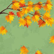 Vintage autumn wallpaper, leaf fall background Stock Illustration