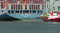 Tug Assists Container Ship HD Footage