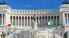 Rome, Italy, Piazza Venezia, Vittoriano or Altare della Patria, time-lapse. Stock Footage
