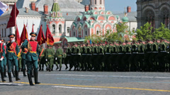 Celebration of the 69th anniversary of the Victory Day (WWII) - stock footage