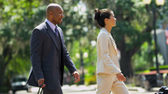 Limousine Driver Meeting Corporate Clients - stock footage