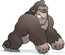 Cartoon gorilla walking Piirros