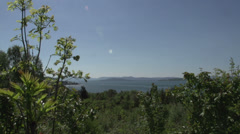 0105Norway lakeview sunny bleu sky - stock footage