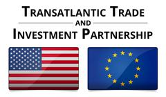 ttip - transatlantic trade and investment partnership - stock illustration