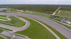 Aerial Homestead Speedway turn - stock footage
