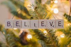 Believe Christmas Ornament Stock Photos