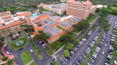 Stock Video Footage of Aerial Baptist Hospital flyaway