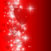 Valentine's background with space for text Stock Illustration