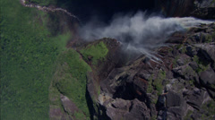 Waterfall Boulders Canyon Ridge Stock Footage